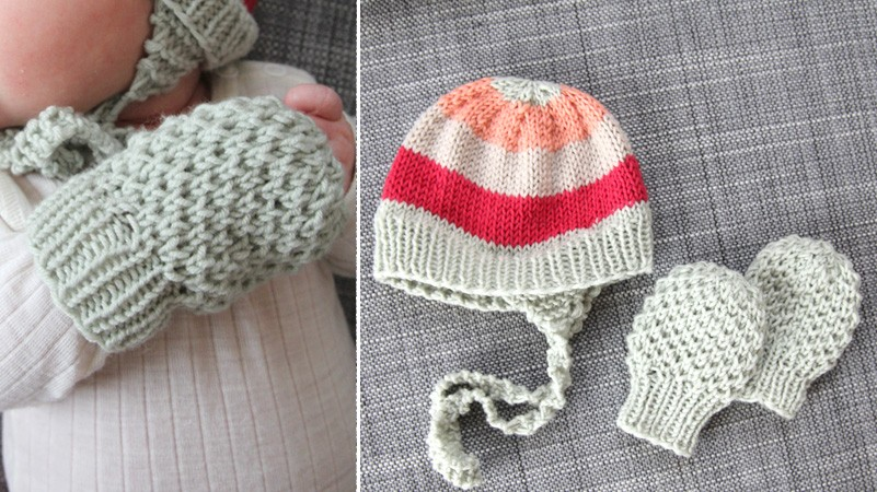 Similiar Knitted Baby Mitts Pattern Keywords