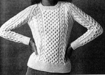 Aran Knit Sweater Pattern