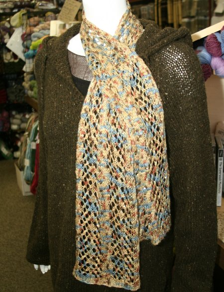 Arrowhead Lace and Cable Scarf Knitting Pattern