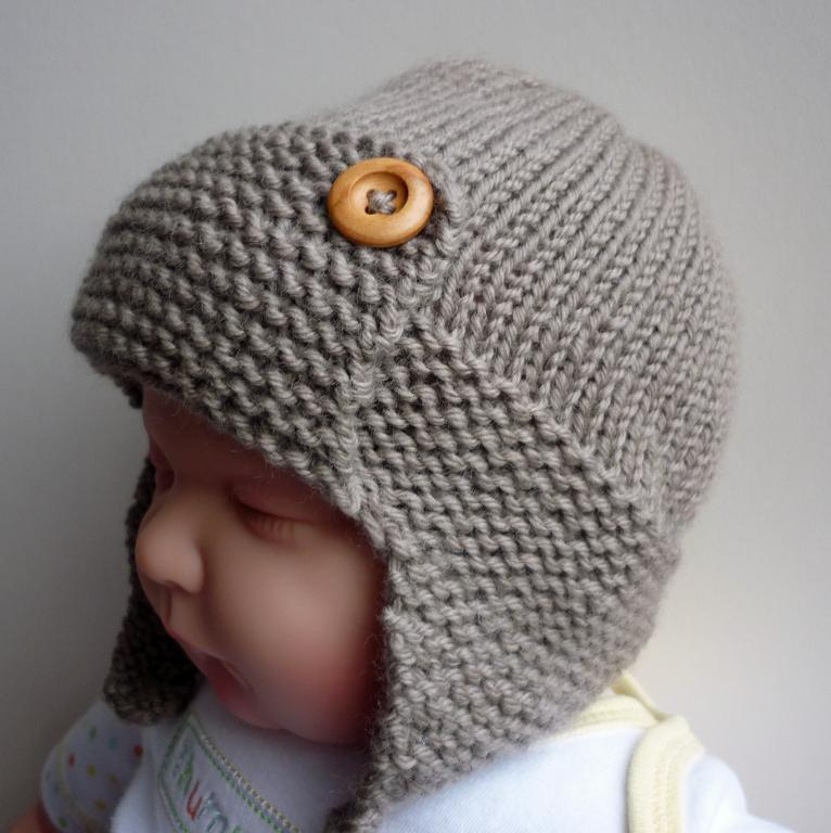 Baby Aviator Hat Regan Knitting Pattern