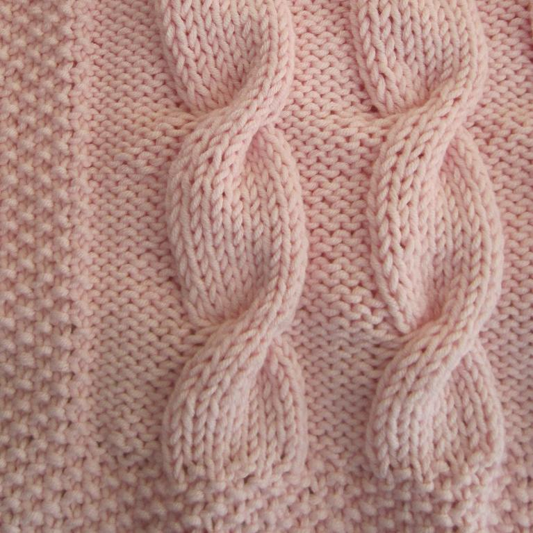 Baby Cable Blanket Knitting Pattern