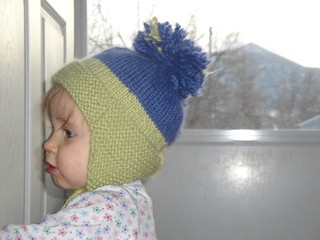 Baby Earflap Hat Knit Pattern