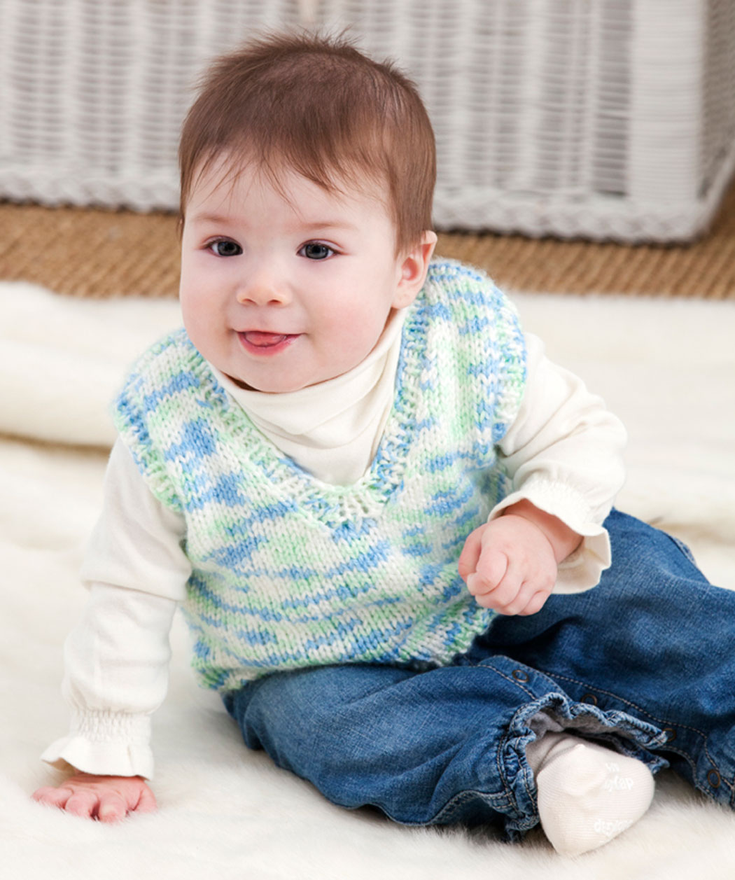 Baby Vest Knitting Pattern