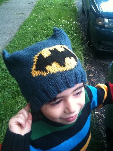 Batman Knitting Hat Pattern Instruction