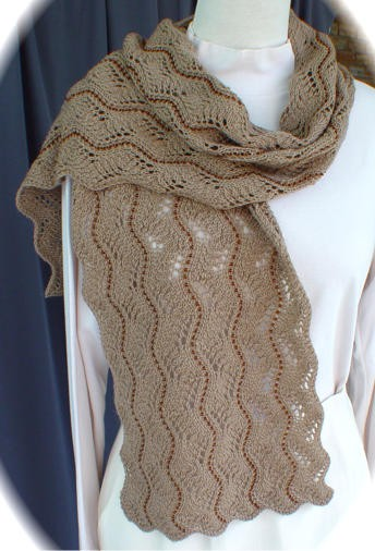 Beaded Lace Scarf Knitting Pattern
