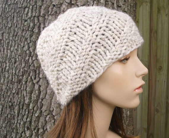 Beanie Chunky Hat Knitting Pattern Instruction