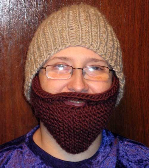 Bearded Beanie Knitted Beard Hat Pattern