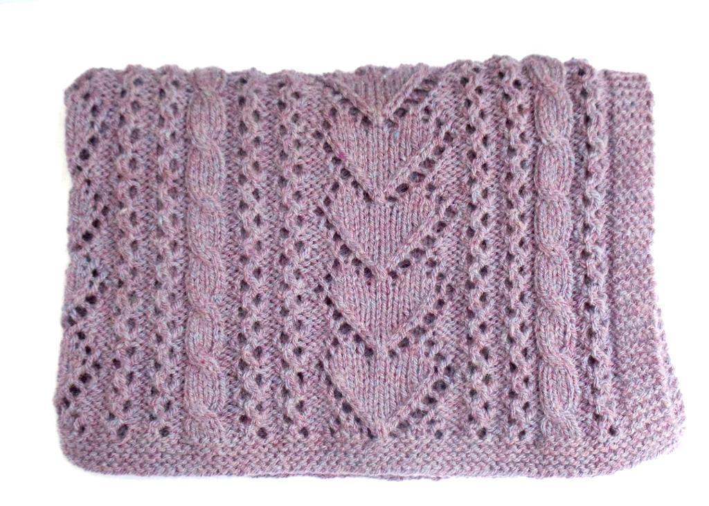 Betsi Baby Blanket Heart Knitting Pattern