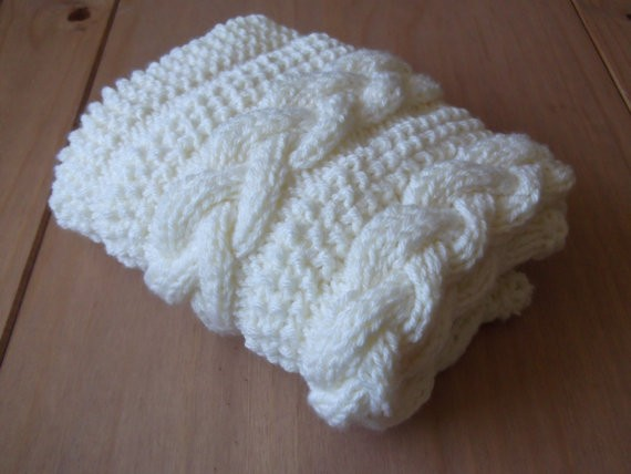 Braided Cable Knit Baby Blanket Pattern Photo