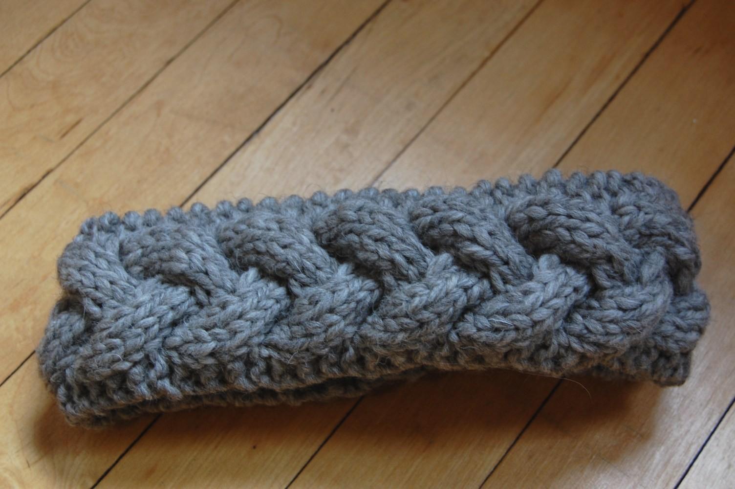 Braided Cable Knit Headband Pattern
