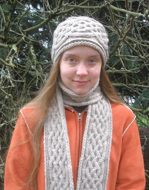 Braided Cable Knit Scarf Pattern