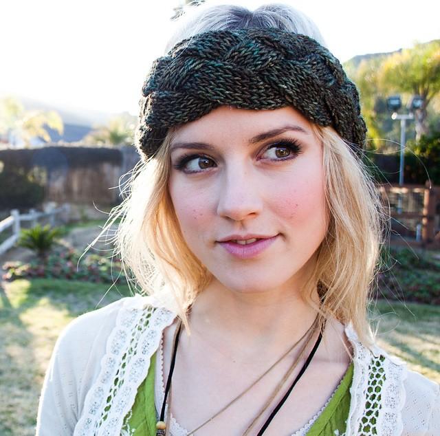Braided Headband Ear Warmer Knitting Pattern