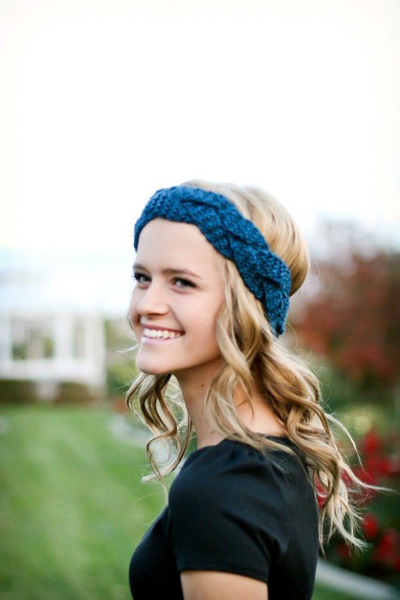 Braided Knit Headband Pattern For Teens Image