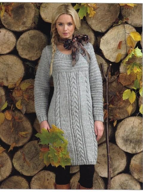 Braided Knit Sweater Dress Pattern