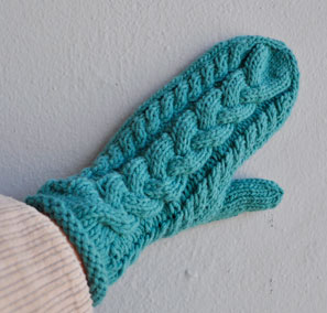 Braided Mitten Knitting Pattern