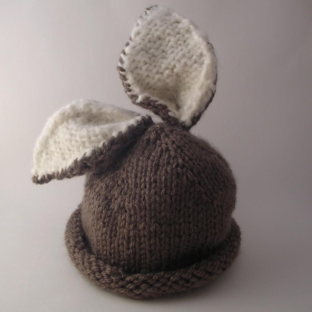 Brair Bunny Baby Hat Knitting Pattern
