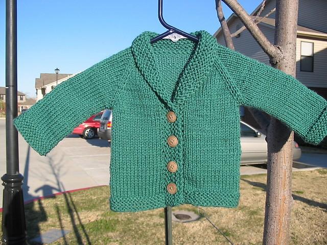 Buttoned Baby Sweater Knitting Pattern