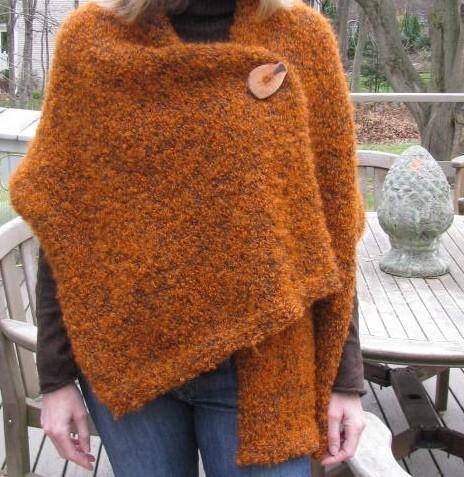 Buttoned Shawl Knitting Pattern