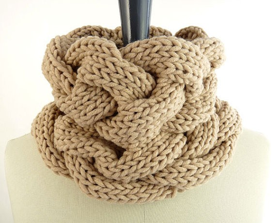 Cable Infinity Scarf Knitting Pattern Images