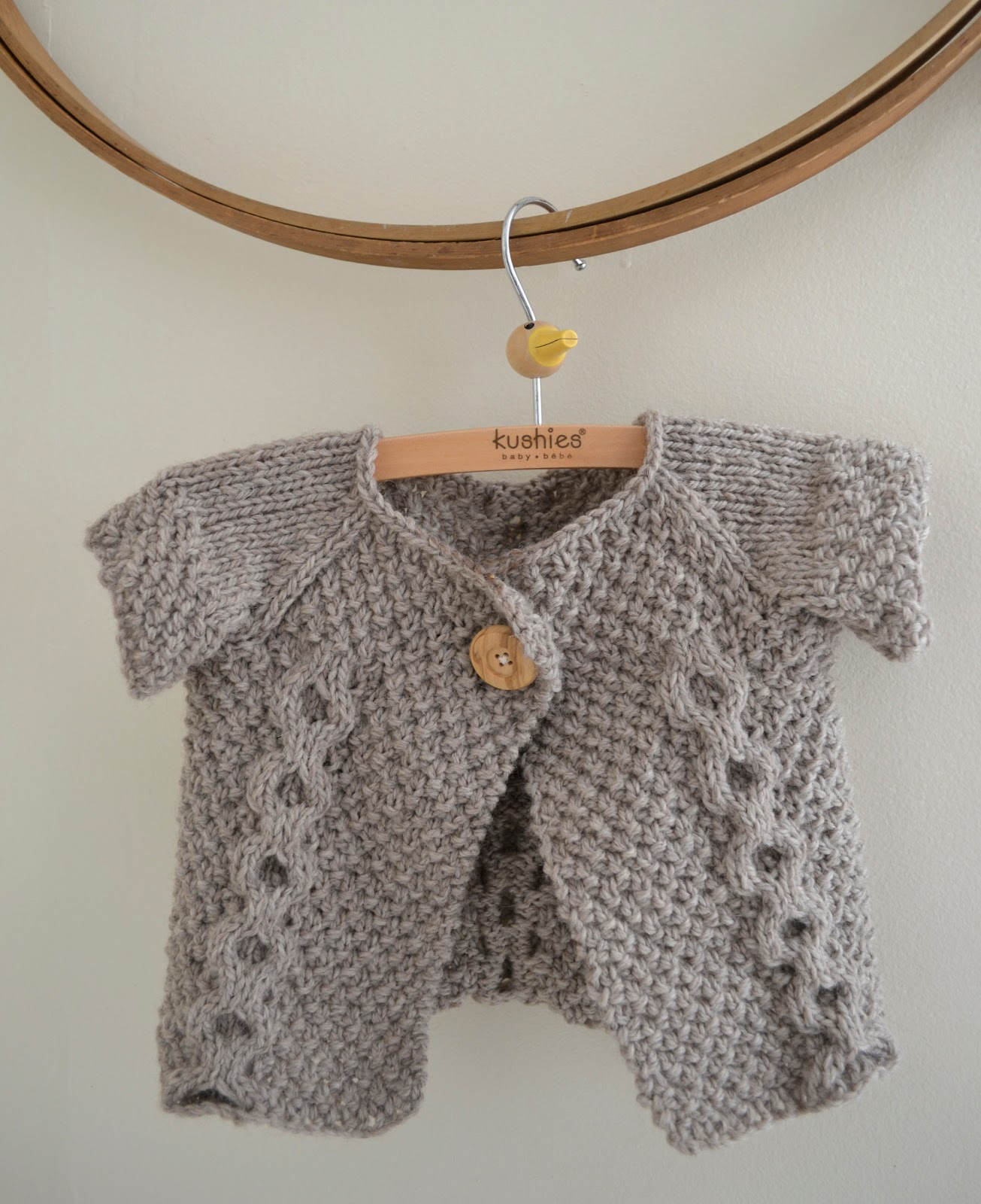 Cable Knit Baby Sweater Pattern