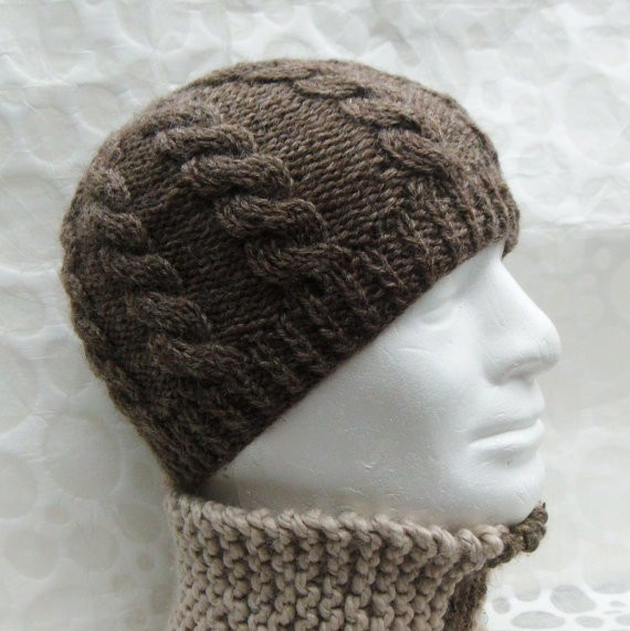 Cable Knit Men's Hat Pattern