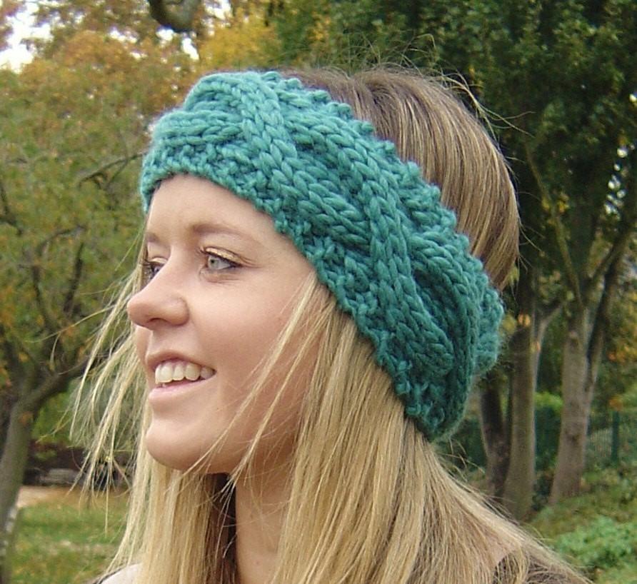 Cable Rope Headband Knitting Pattern