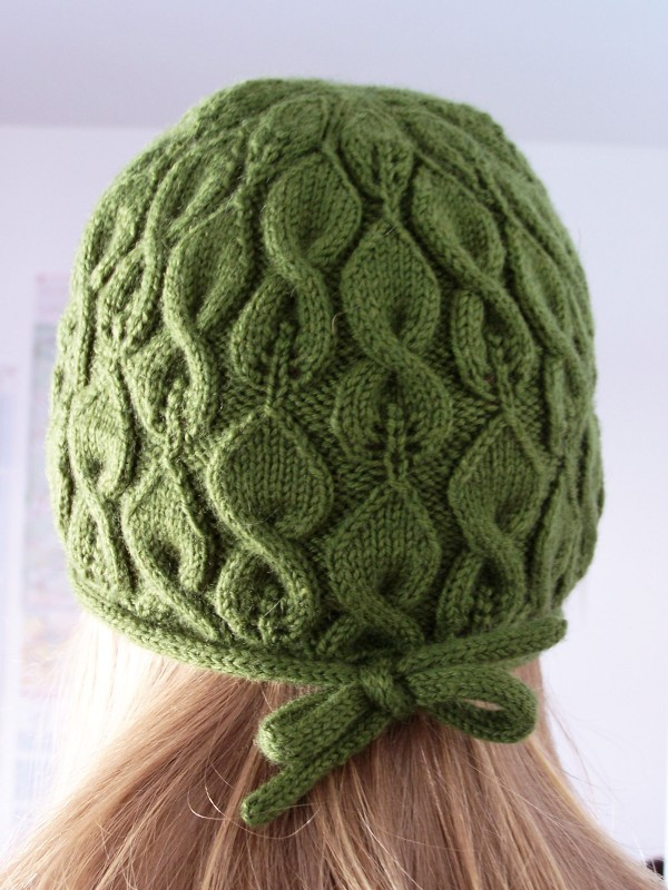 Cable and Lace Knitted Hat Pattern