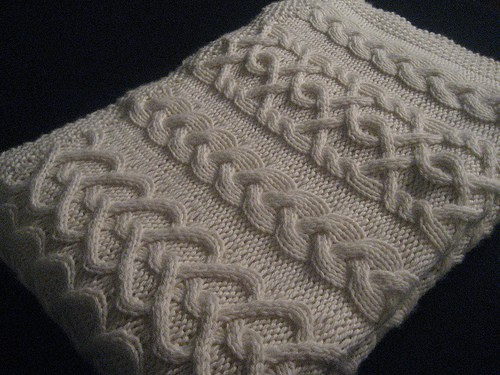 Cabled Baby Blanket Knitting Pattern