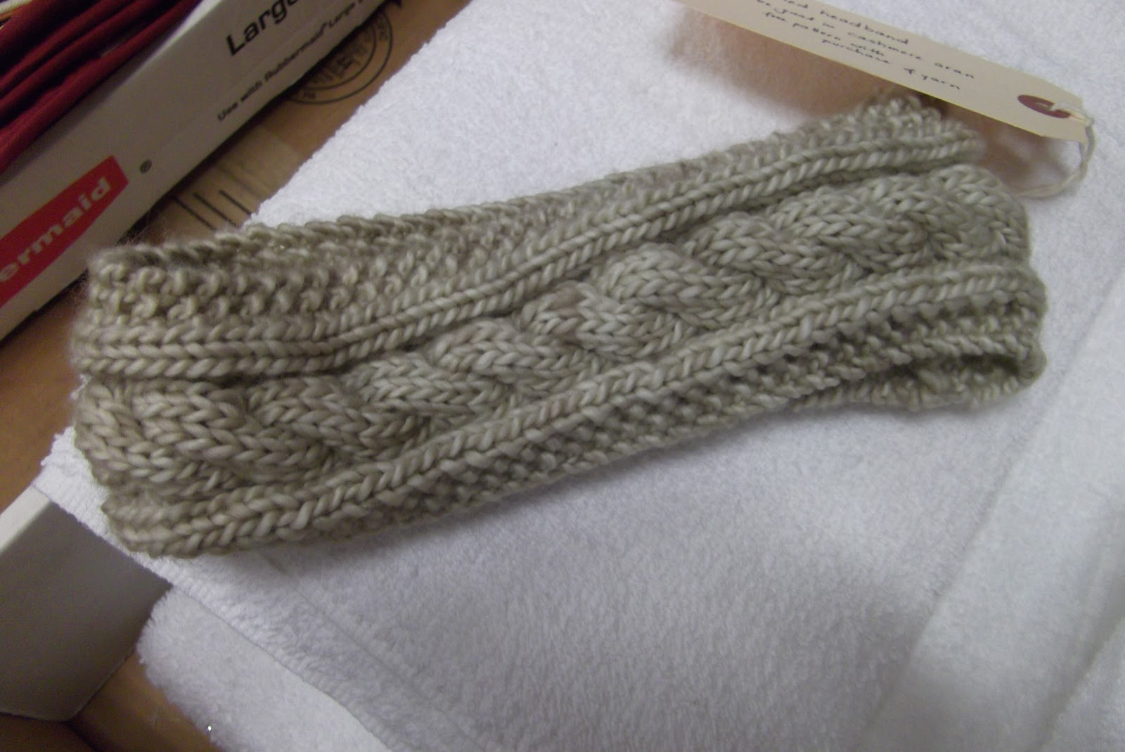 Cabled Knit Headband Pattern Instruction