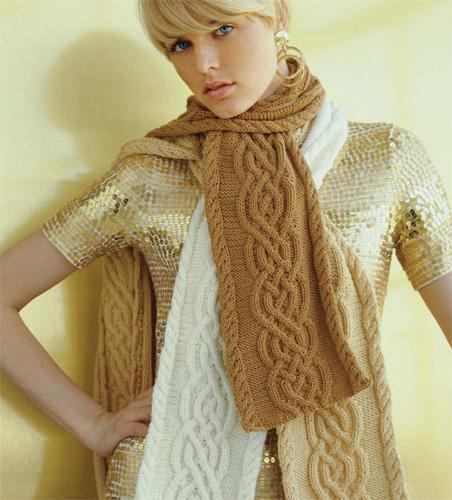 Cabled Knitting Scarf Pattern Design