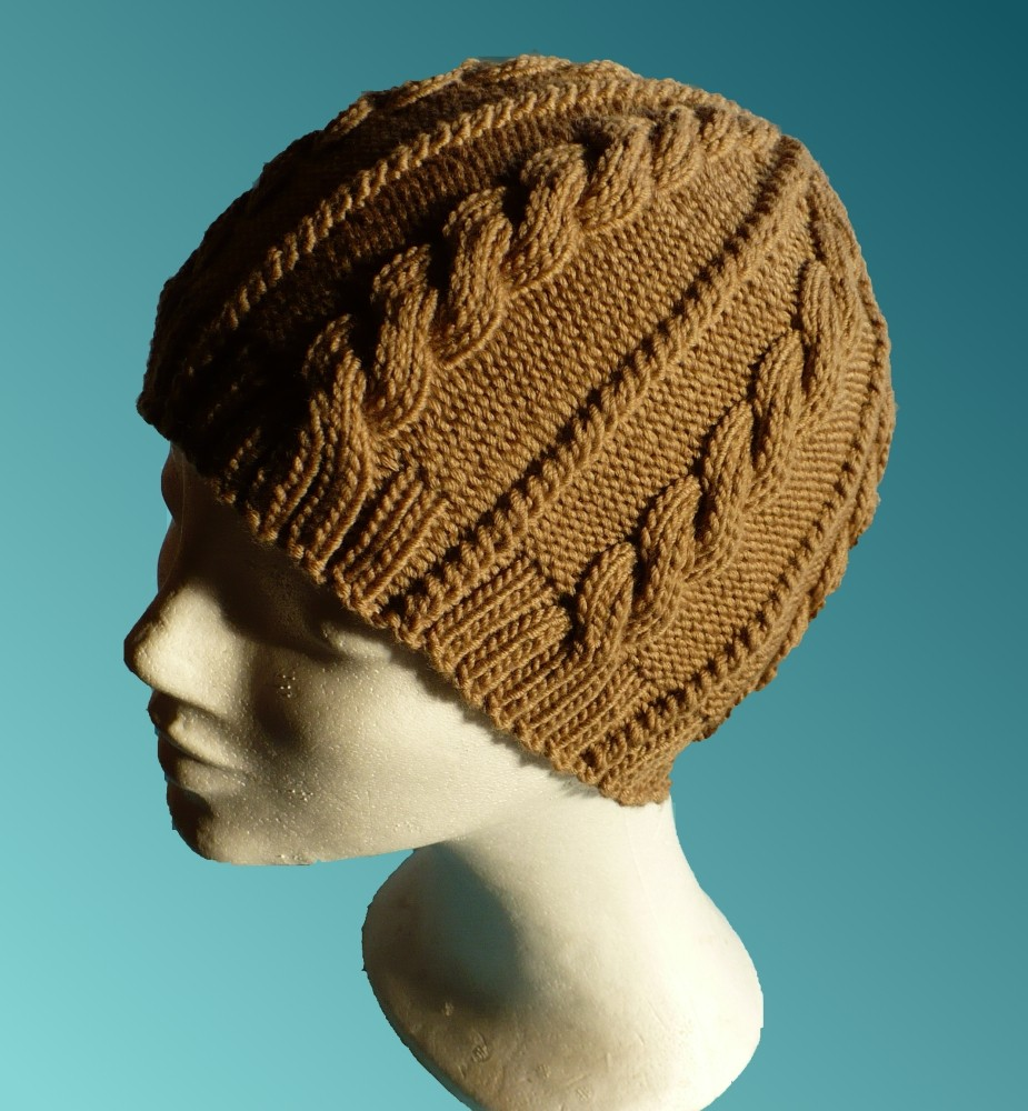 Caramel Cable Hat Knitting Pattern