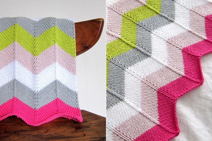 Chevron Baby Blanket Knitting Pattern