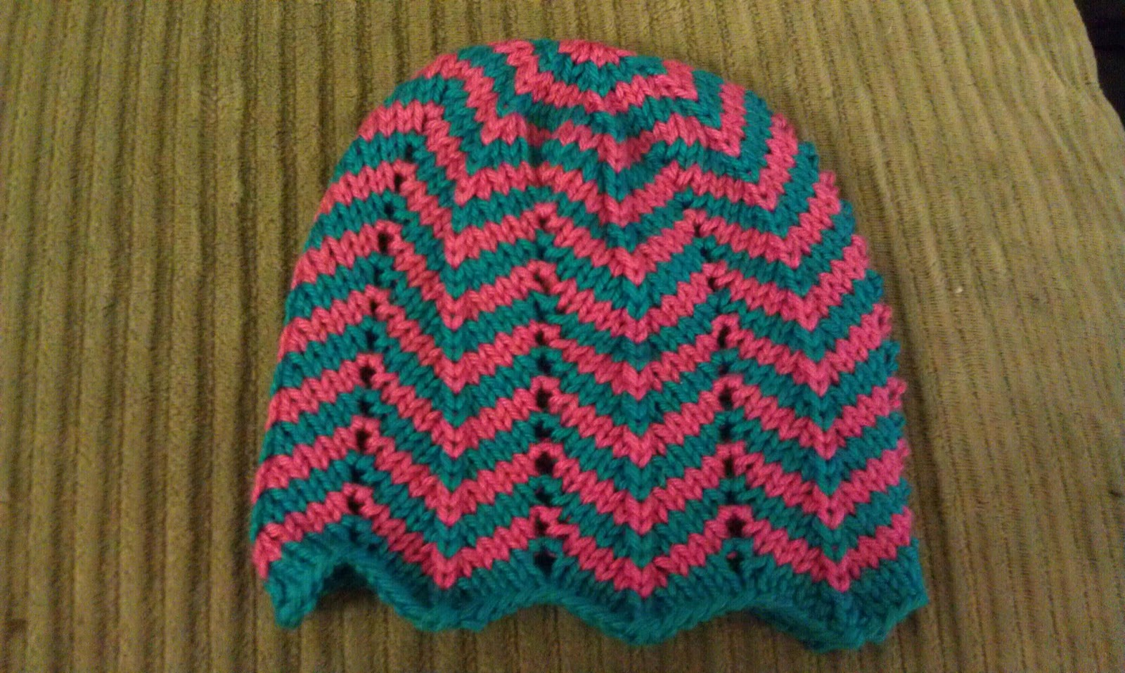 Chevron Baby Hat Knitting Pattern