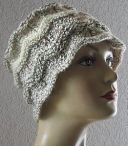 Chevron Hat Knitting  Pattern