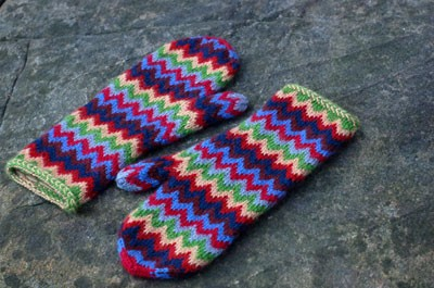 Photos of Chevron Knit Mitten Pattern