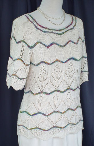 Chevron Lacey Sweater Knitting Pattern