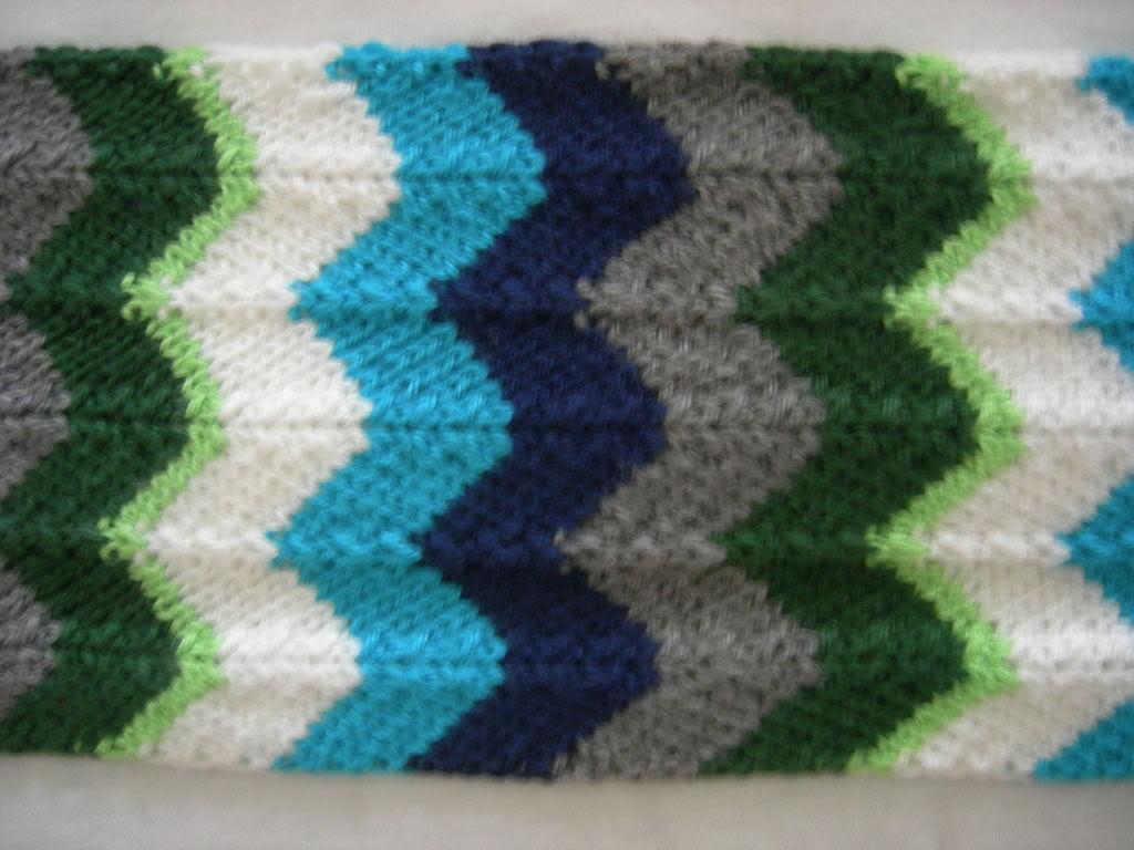 Chevron Scarf Knitting Pattern Instruction