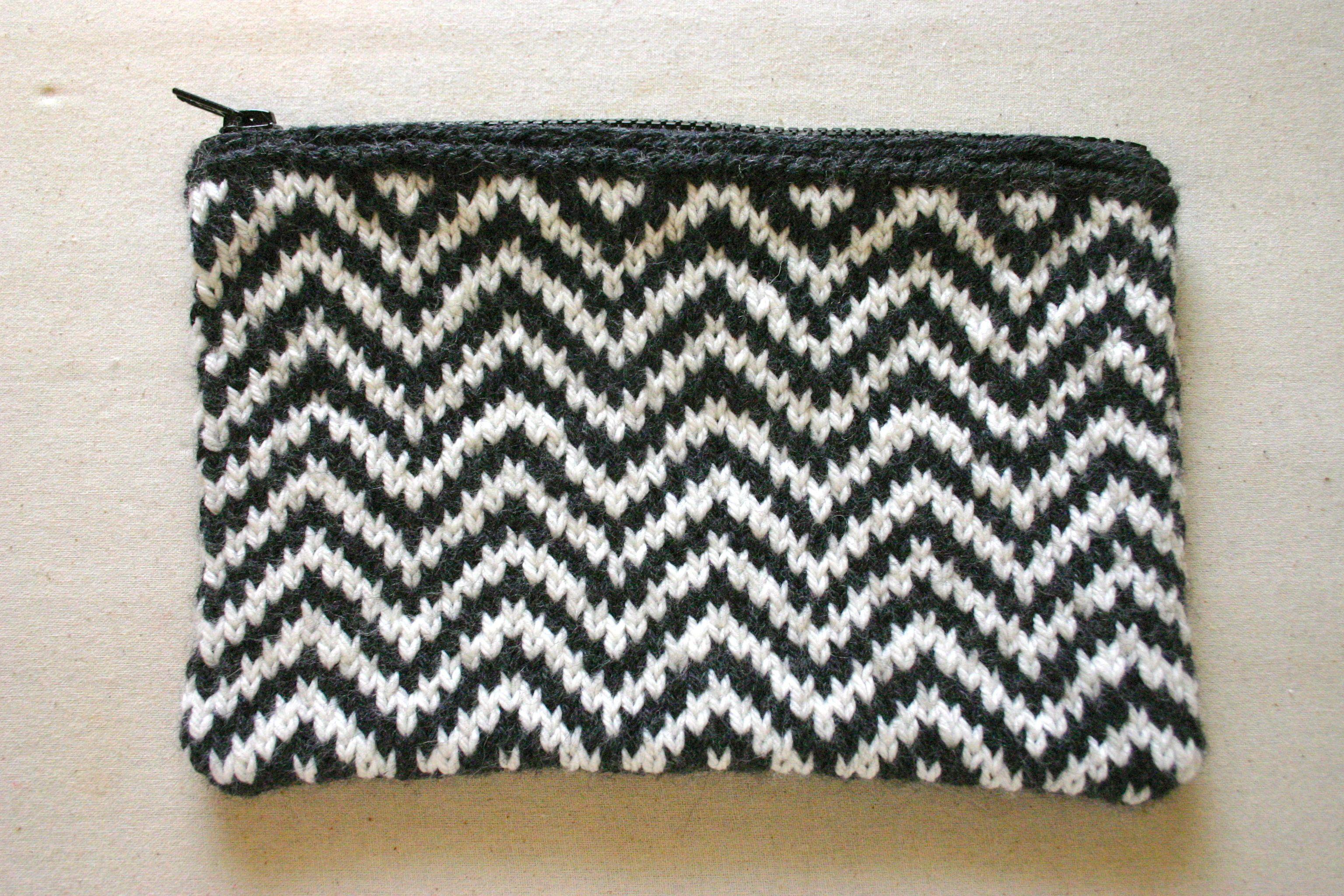 Chevron knit Bag Pattern