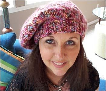 Chunky Beret Knit Hat Pattern