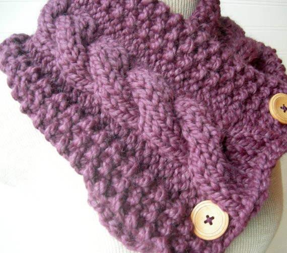 Chunky Cable Scarf knitting Pattern Tutorial