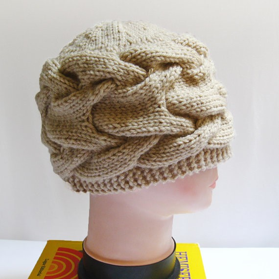 Chunky Cabled Knitting Hat Pattern