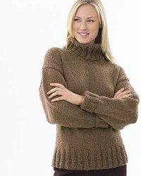 Chunky Knit Turtleneck Sweater Pattern