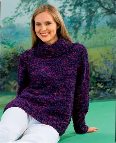Chunky Polo Neck Sweater Knitting Pattern