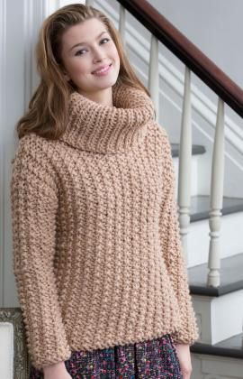 Chunky Textured Knit Sweater Pattern