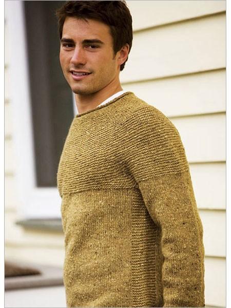 Cobblestone Pullover Knitting Pattern For Men's