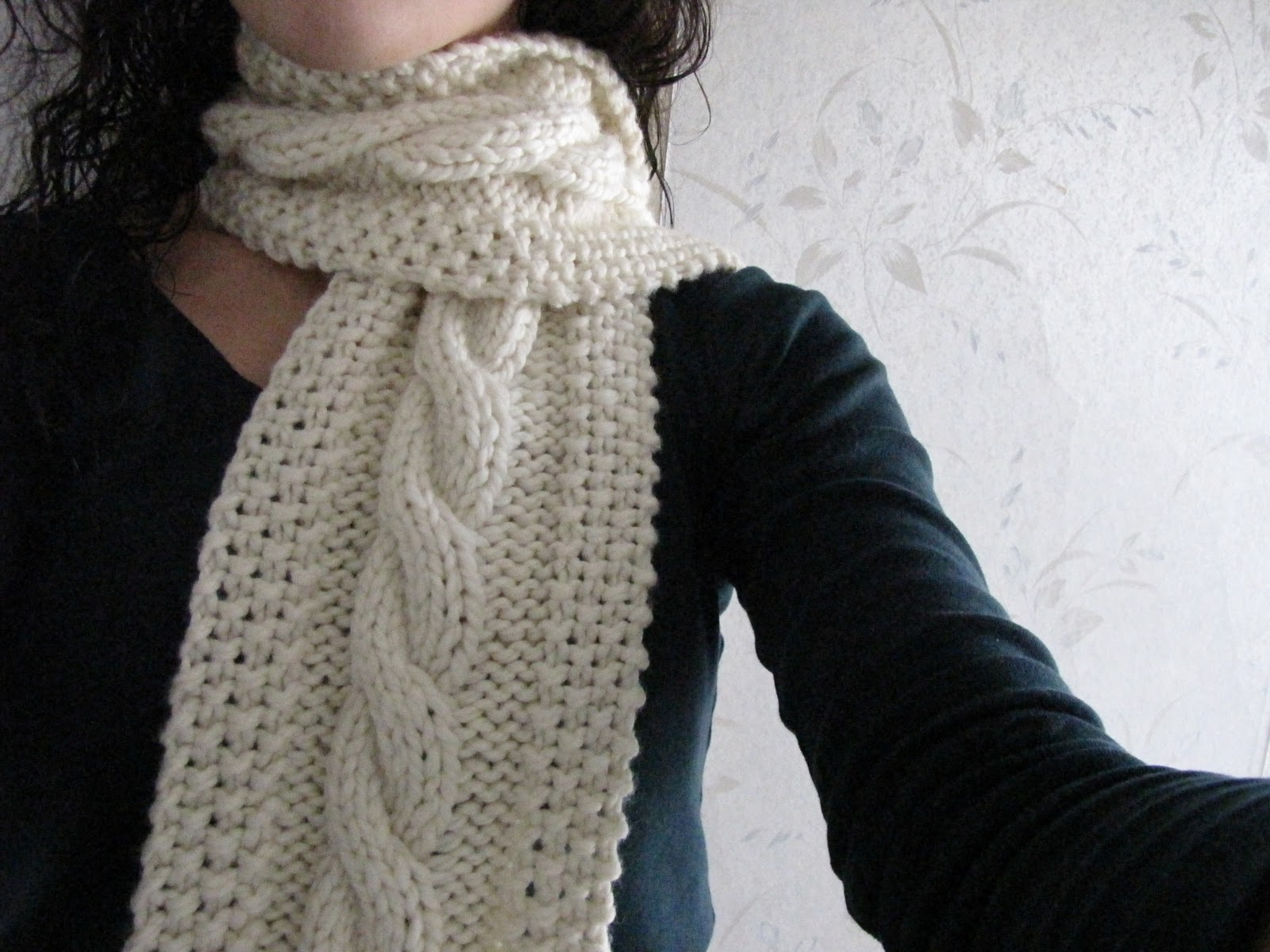 Cozy Cable Knit Scarf Pattern