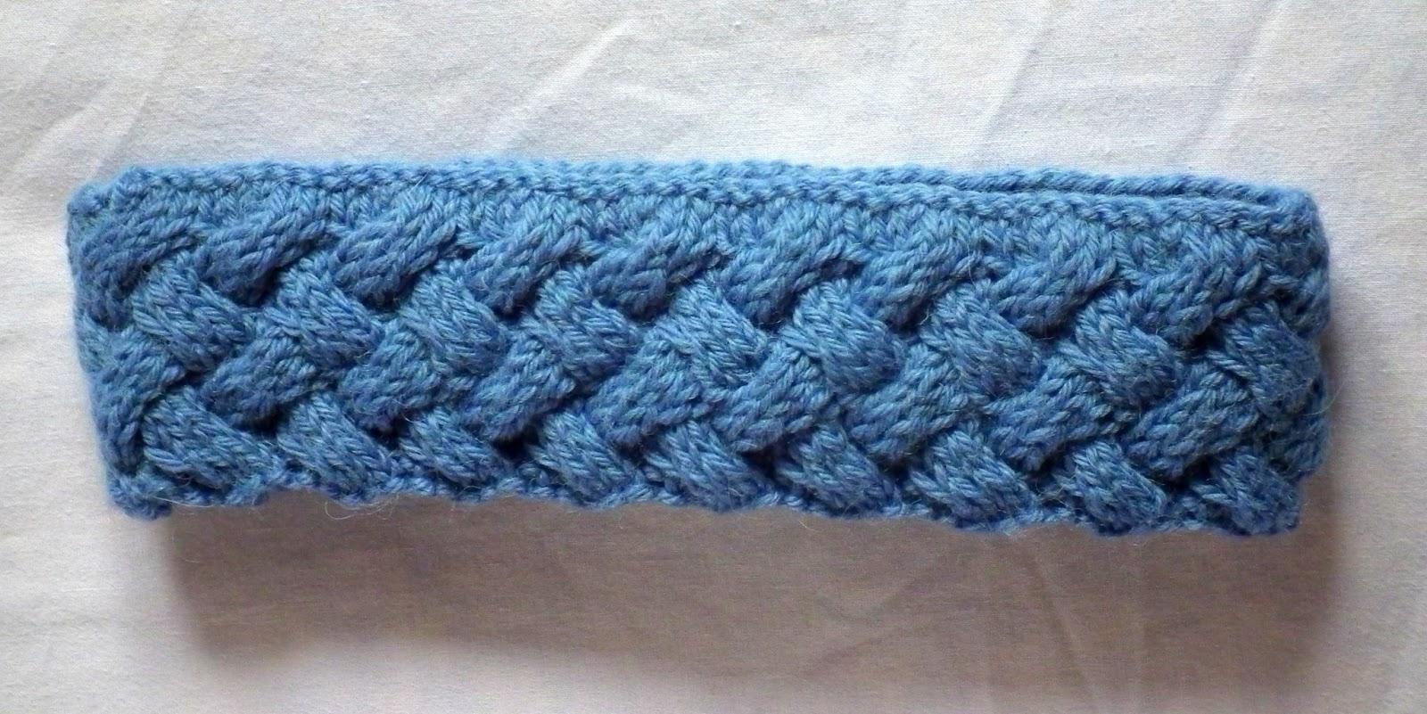 Criss-Cross Cable Knit Headband Pattern Tutorial