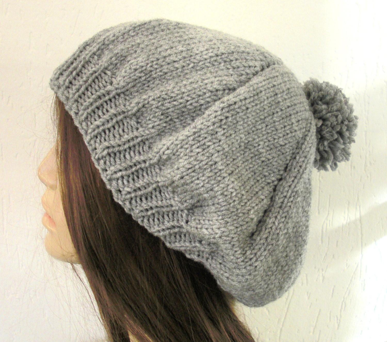 DIY Pompom Hat Knitting Pattern For Women