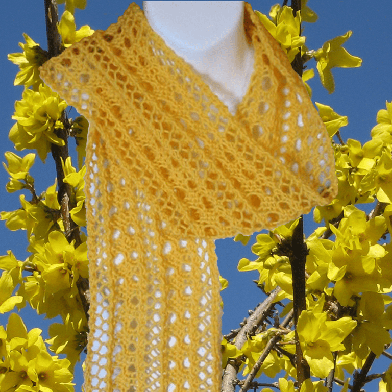 Delicate Lace Scarf Easy Knitting Pattern