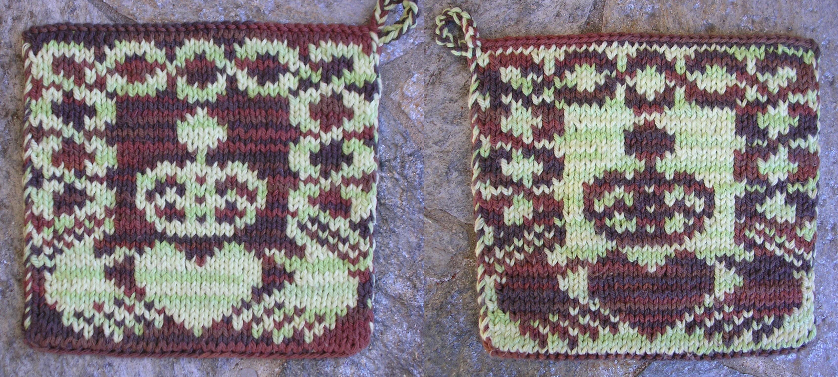 Double Knit Pot Holder Pattern